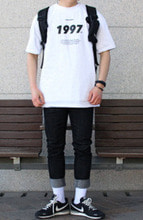 Over-fit Ancent White 1/2 Tee