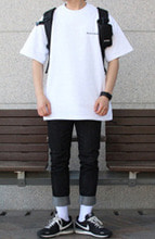 Over-fit Active White 1/2 Tee