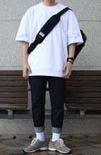 Over-fit HACU White Tee