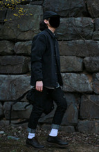 Avant-fit Black Denim Jacket