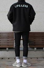 Over-fit HUKE Black Jacket