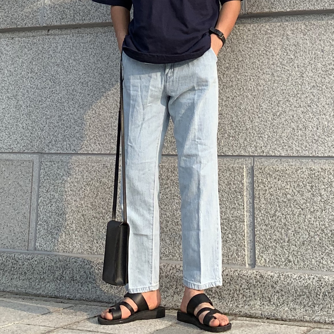 Drop-fit IHN Ice Jeans (연청)