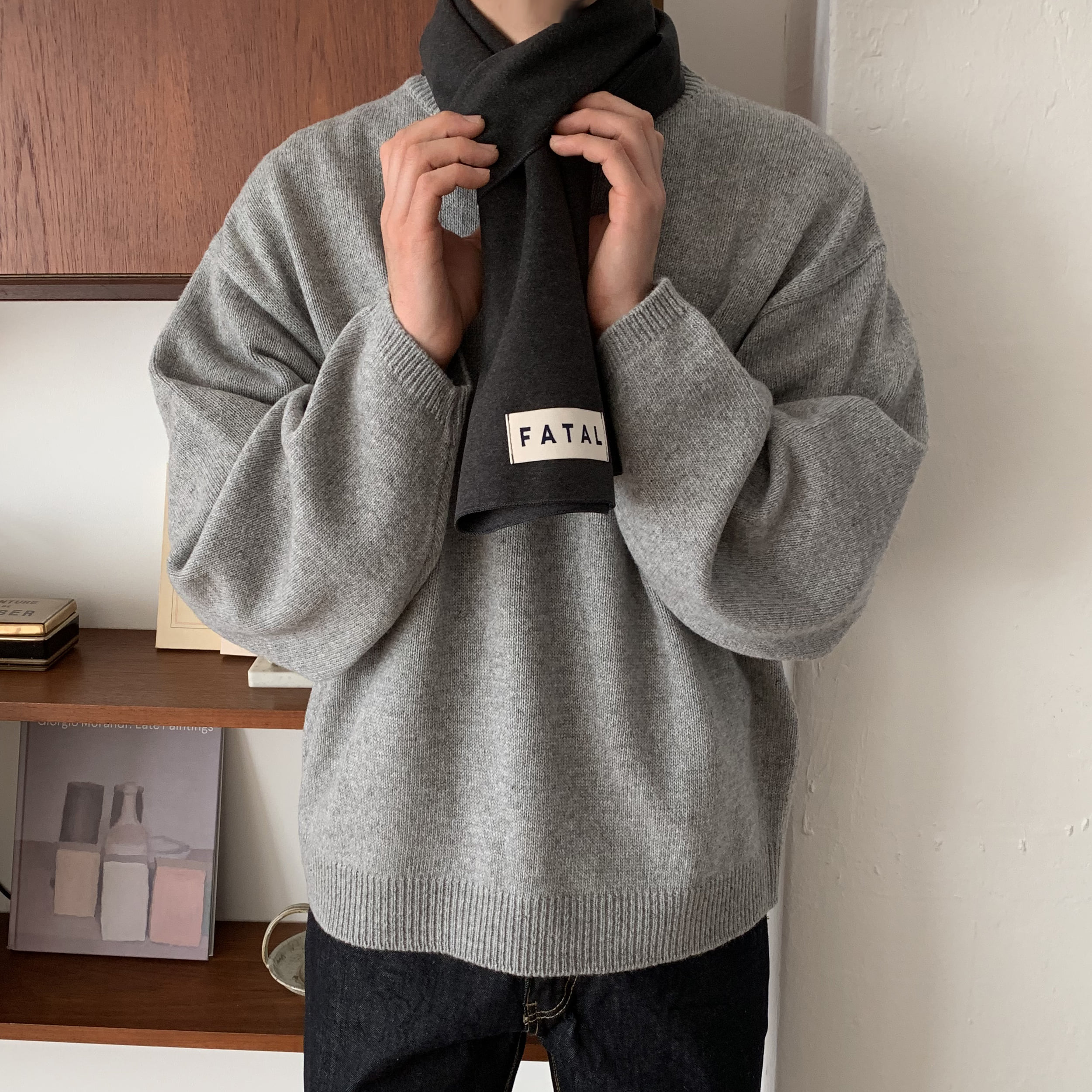Over-fit Nirk Grey Knit (겨울 재진행 예정)