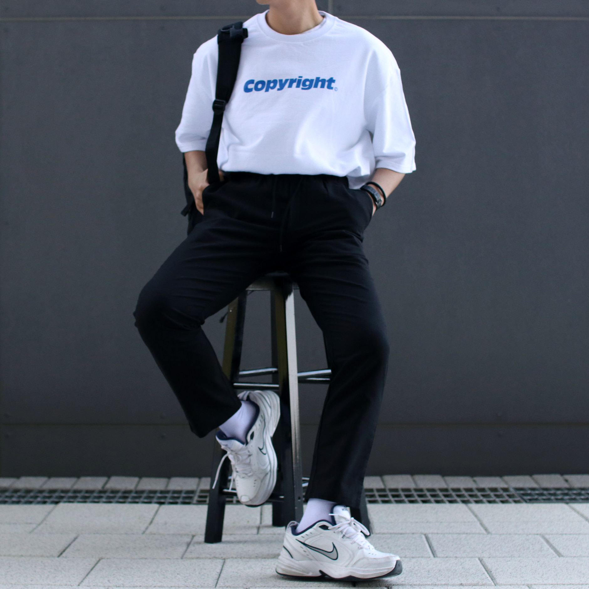Over-fit  HIPE 1/2 Tee (White)