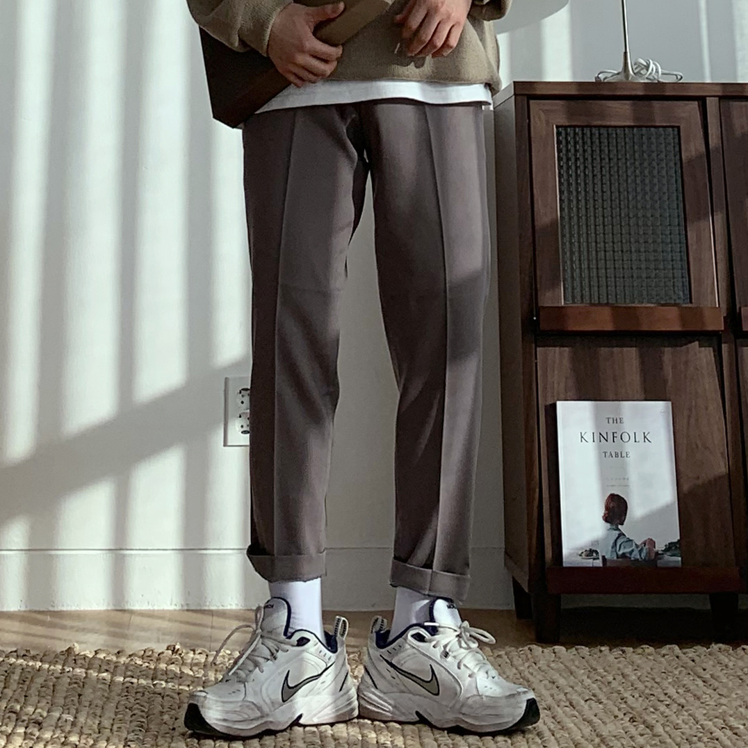 Drop-fit Bread Beige Slacks