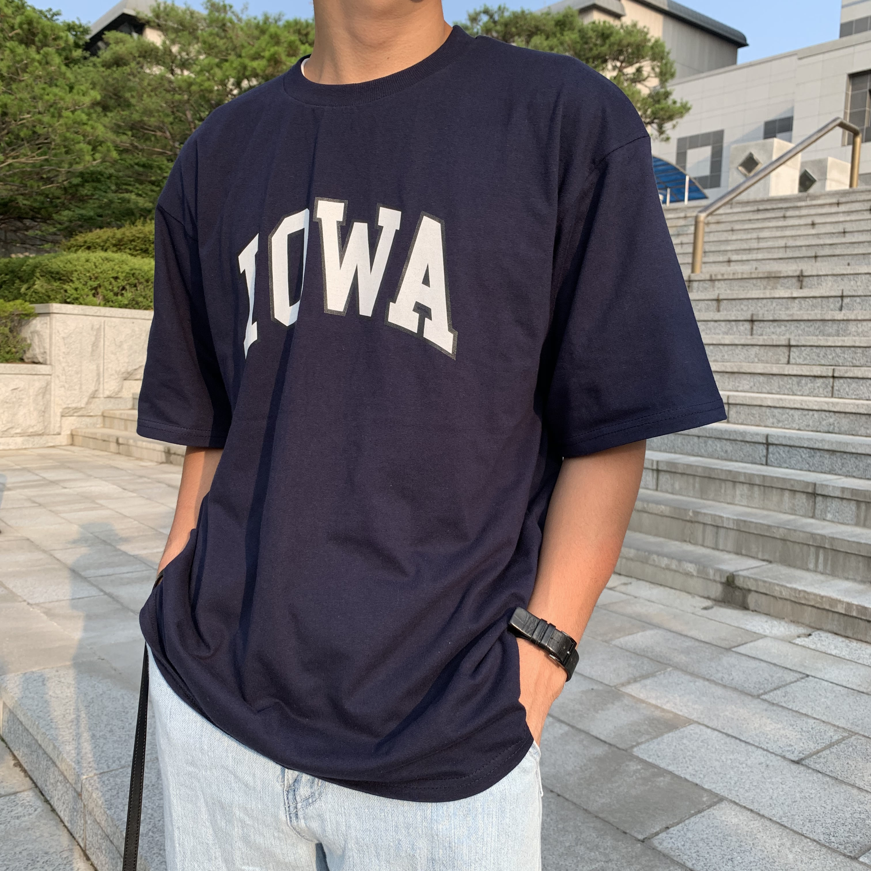 Over-fit ANT Navy 1/2 Tee